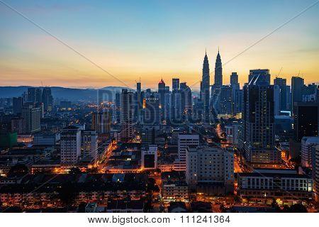 Kuala Lumpur city skyline, capital city of Malaysia