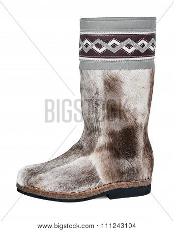 Fur Boots - Shoes National Northern Peoples Of Skinning Deer