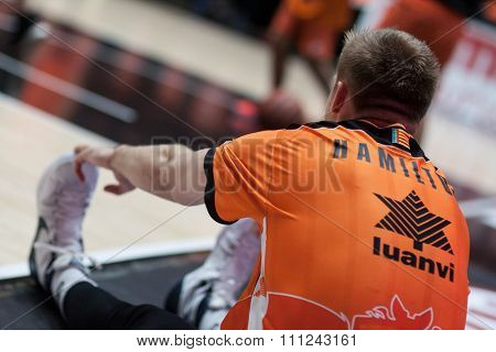 VALENCIA, SPAIN - DECEMBER 12th: Hamilton during Spanish League between Valencia Basket Club and Montakit Fuenlabrada at Fonteta Stadium on December 12, 2015 in Valencia, Spain