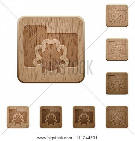 Bug Folder Wooden Buttons