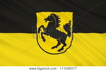 Flag Of Stuttgart Is The Capital And Largest City Of The State Of Baden-württemberg In Southwest Ger