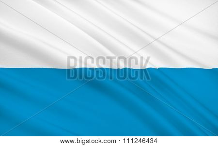 Flag Of Bavaria - The Land In The South And Southeast Of The Federal Republic Of Germany