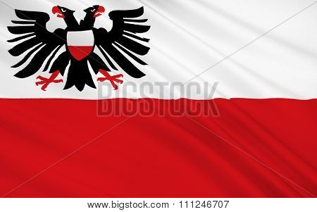 Flag Of Lubeck Is A City In Schleswig-holstein, Northern Germany