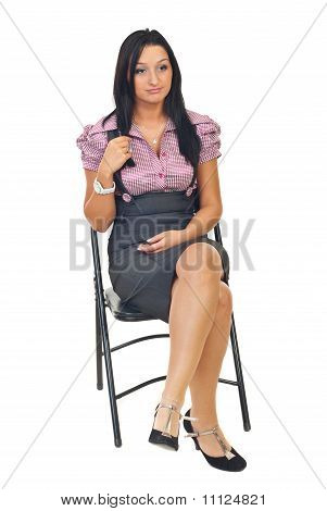Bored Woman Sitting On Chair