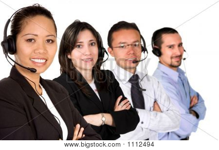 Diverse Customer Service Team