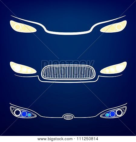 Car Headlights vector