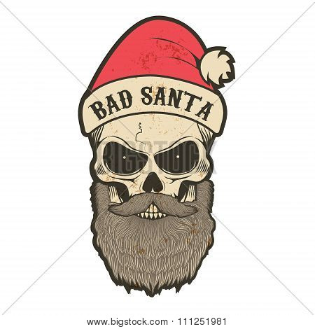Santa Claus in a grunge style