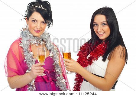 Women At Christmas Party