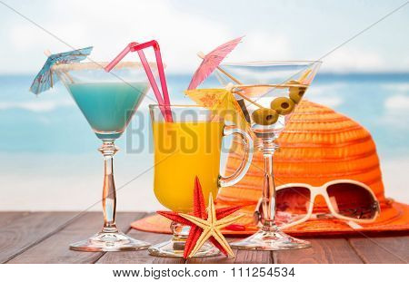Items for relaxing on beach