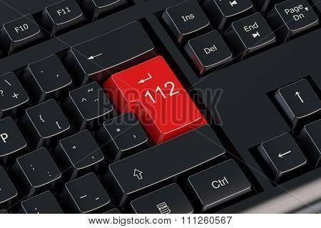 112 Keyboard Button
