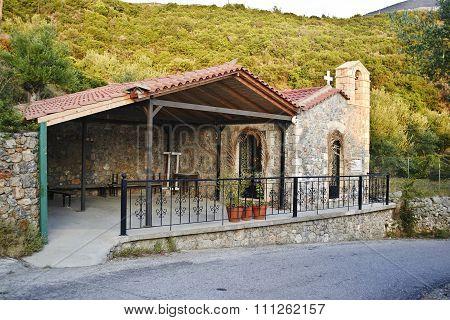 church in Taygetos mountain Messinia Greece