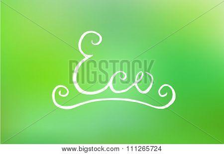 Handwritten eco lettering