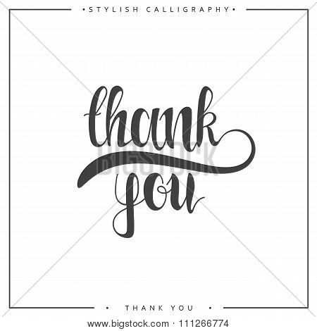 Thank you. The phrase handmade. Stylish, modern calligraphy