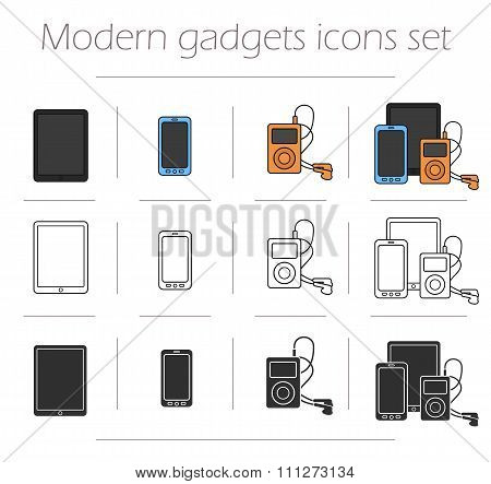Gadgets icons set