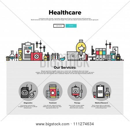 Healthcare Flat Line Web Graphics