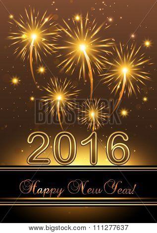 Happy New Year 2016 - Background.