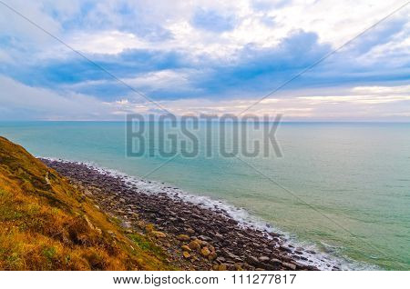 Vista Of Escalles From Cap Blanc-nez, France