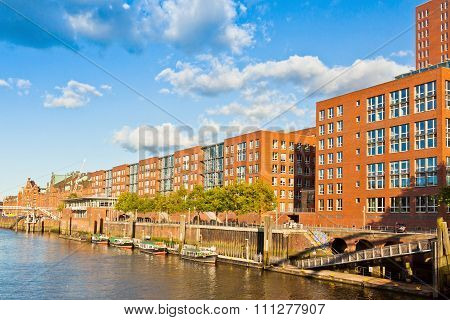 Speicherstadt District (city Of Warehouses) In Hamburg, Germany