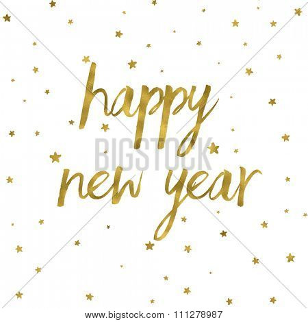 Happy New Year background with gold texture