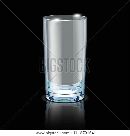 glass on black