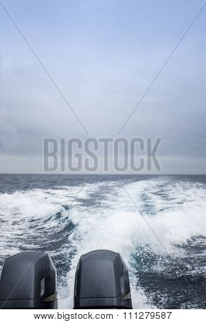 The Back Part Of A Motor Boat
