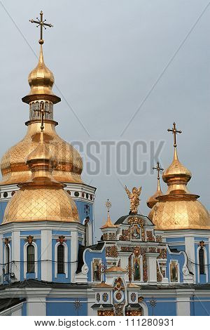 Domes Of St. Michael's Golden-domed Monastery, Kyiv, Uk