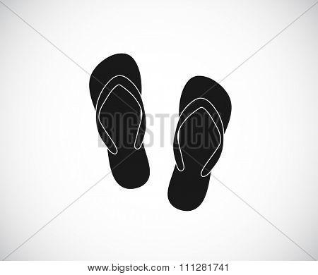 sandals beach flip-flop - icon