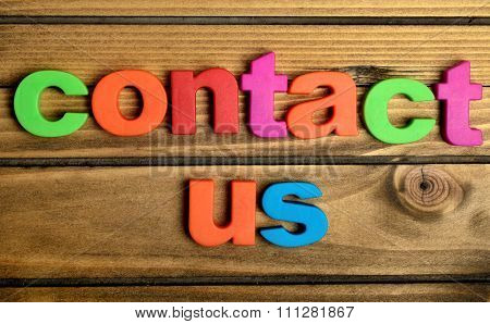 Colorful Contact Us Word