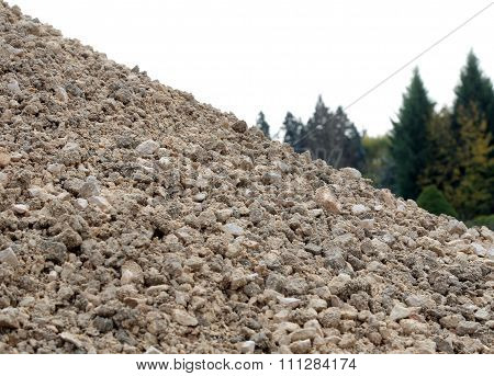 Big Pile Of Stones And Rocks