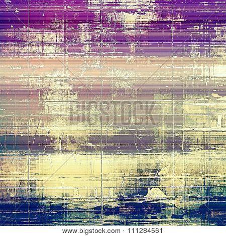 Abstract blank grunge background, old texture with stains and different color patterns: yellow (beige); blue; purple (violet); pink