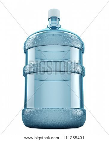Big water bottle for delivery services isolated on a white background.