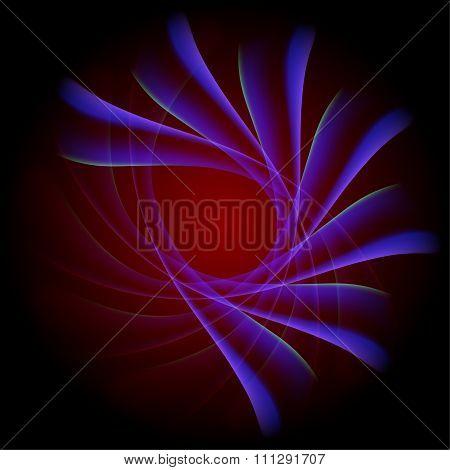 Blue radial background on dark red background