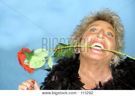 Wild Woman With Rose1