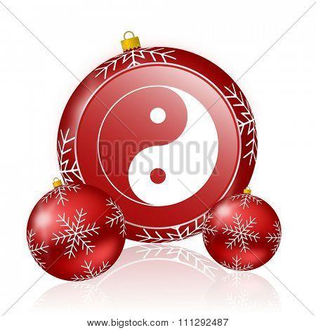 ying yang christmas icon