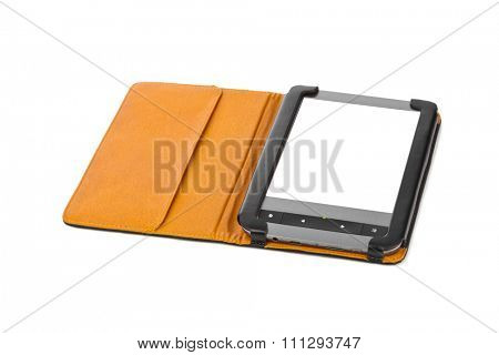 E-book reader isolated on white background