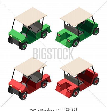 Golf Cart Isometric View