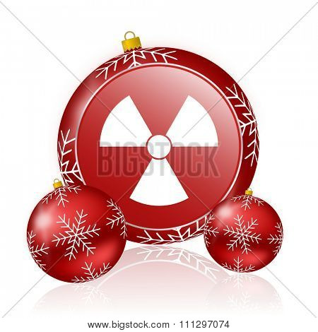 radiation christmas icon