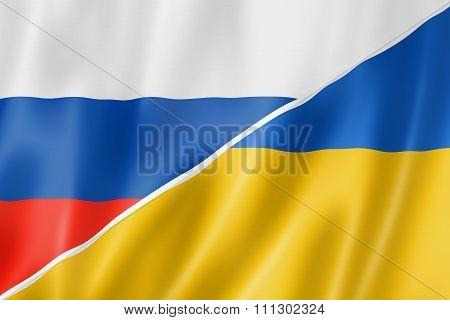 Russia And Ukraine Flag
