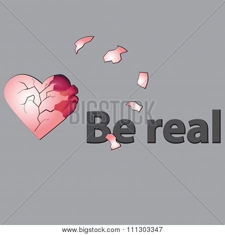 Be real. print with the heart