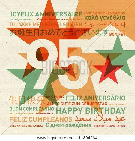 95Th Anniversary Happy Birthday Card From The World
