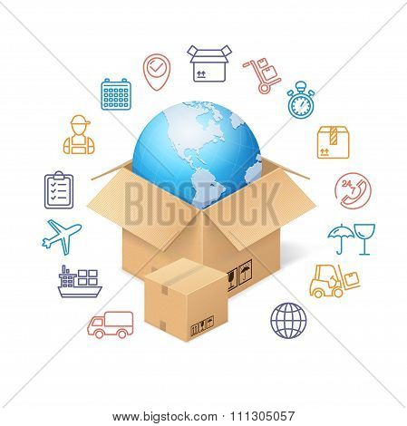 Delivery Concept Background. Vector