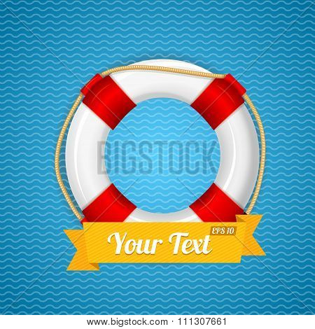 Life Bouy Background. Vector