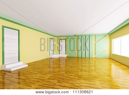 Empty Interior 3D render