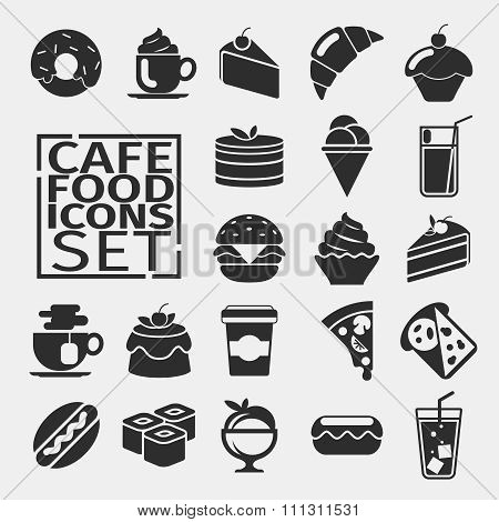 Food black icons