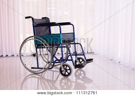 wheelchair parked at modern home