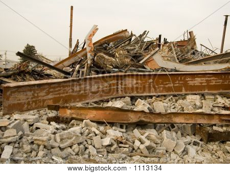 Destroyed Building Rubble
