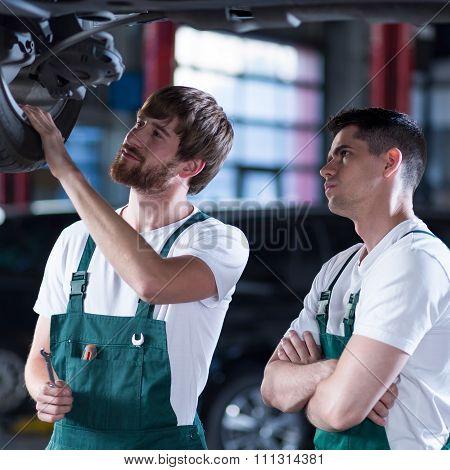 Two Handsome Auto Mechanics