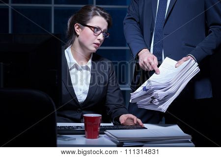 Employee And Paperwork