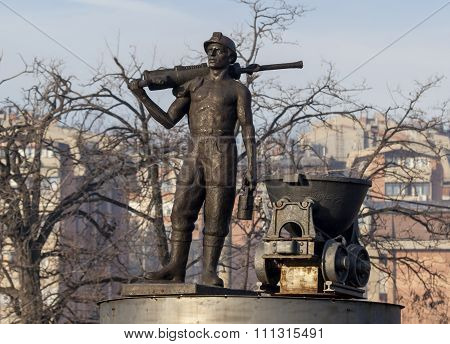 Statue Of Miner 1