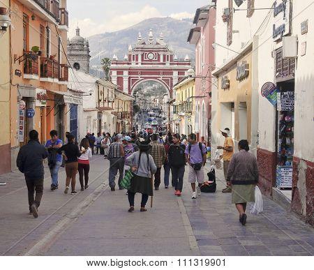 Ayacucho, Peru - November 6, 2015: Arco Del Triunfo On 6 Novembe